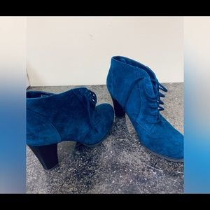 Brand New Navy Leather Boots